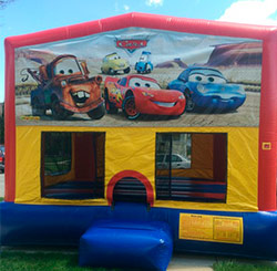 15'x15' bounce house with basketball hoop inside