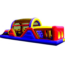40' long obstacle course with plenty of obstacles and small slide inside